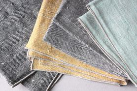 Leinen Handtücher mit Fischgrät Muster, zeitlose Geschirrtücher