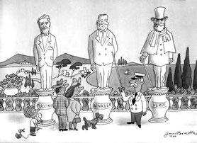Hans Bradtke, Karikatur ohne Titel. 1966
