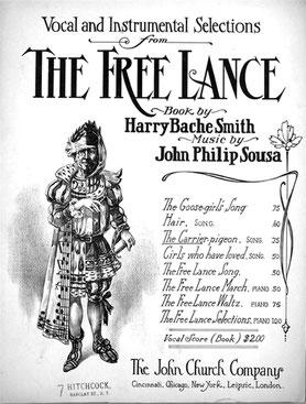 Notentitel einer Sammlung von Stücken aus Sousas Operette »The Free Lance«