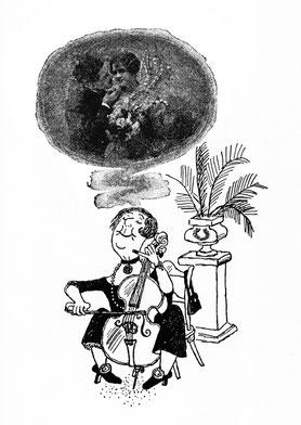 Gerard Hoffnung, Violoncello, Liebespaar, verliebte Cellistin