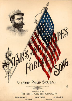 "John Philip Sousa, ""Stars and Stripes Forever,"" published in Cincinnati, Ohio, 1898. Reproduction No.: Music B-367; Repository: Rare Book, Manuscript and Special Collections Library, Duke University."
