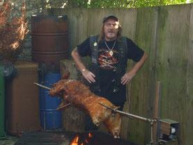 Das Schwein, das wird schmecken.