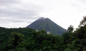 Arenal Volcano view from Cerro Chato trails