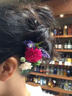 成人式髪飾り②