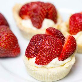 Erdbeer-Törtchen.