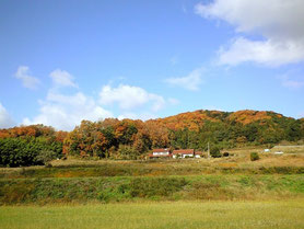 宿全景  秋の風景