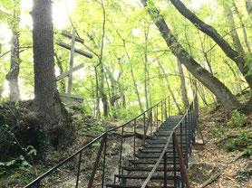 Лестница к источнику Трёх Святых