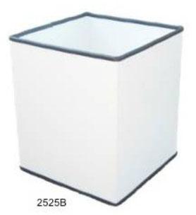 2525B. Basurero Cuadrado pequeño Blanco 26x26x30cm