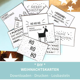 Weihnachtskarten, diy, ausdrucken, Papier, Weihnachtsgrüße