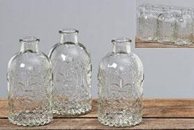 Gläser für einzelne Blumen