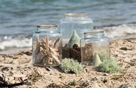 Kleine Gläser für Teelichter und kleinere Pfanzen