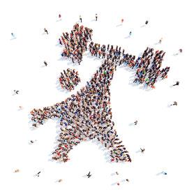 Personaletics Athlet, Menschenmenge, People, Willkommen