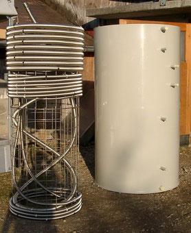 Brauchwassererwärmer und Kunststoffform