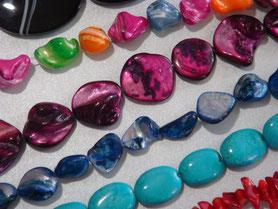 Perlen und Perlenstränge z.B. für Häkelketten