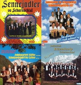 Schallplatten- und CD-Cover Sennejodler und Jodlerklub Blüemlisalp Scharnachtal