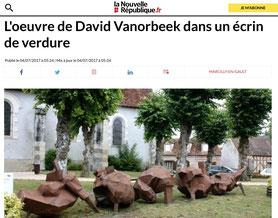 metal sculptures abstraites Sologne Biennale Vanorbeek Sculpteur
