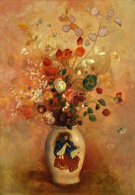 タイトル「日本風の花瓶」