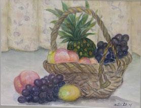 みずみずしい果物 水彩8号