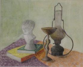 Old Lamp 水彩8号
