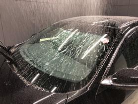 岡山市窓ガラス磨きと撥水コーティング