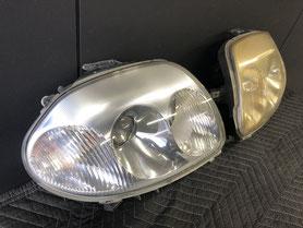 輸入車ヘッドライト磨きリペア