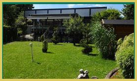 Garten des Hauses der Sinne - Bestattungshaus Kritzler