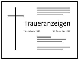Traueranzeigen des Bestattungshauses Kritzler