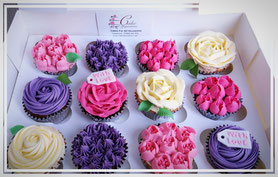 Floral buttercream cupcakes-cake inspirations- wingate durham