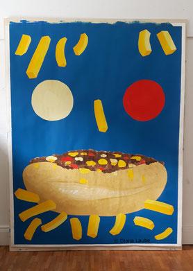 Cheesesteakburger, Pommes, Ketchup, Mayo, Diana Laube für Dieter Sanchez