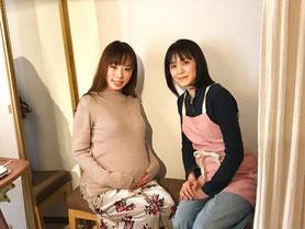 整体師と妊婦さん