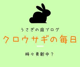 うさぎの庭ブログ「クロウサギの毎日」はこちら