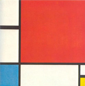'Composition with Red, Blue and Yellow' - Piet Mondrian (1930)