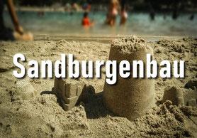 Mit Sand, am Strand, bauen? Genau, das wird hier gemacht.