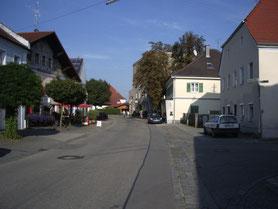 Ortskern Aigen mit Bäckerei, Metzgerei und Gasthöfen