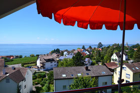 Bild: Balkon mit Seesicht über den Bodensee in Meersburg