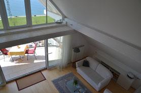 Bild: Wohnbereich Traumseeblick-Ferienwohnung in Meersburg am Bodensee