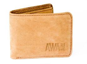 Kleine Geldbörse ABID aus Leder