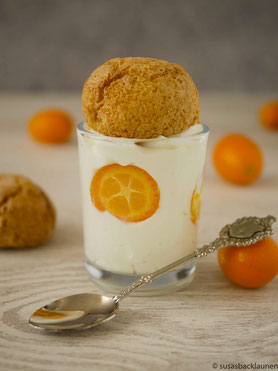 Kumquats mit Quark und Amaretti