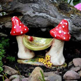 Keramik Fleury Wichtelhaus Elfenhaus Feenhaus