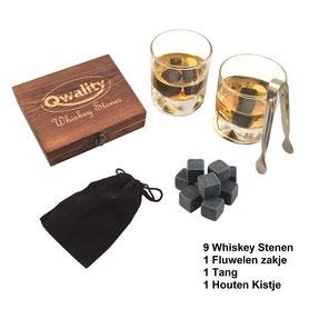 Luxe Whiskey stenen set Cadeau voor hem haar vaderdag moederdag Whisky stones uniek kado cadeaus