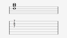 Die zweite Umkehrung von G greifst du wie den offenen D Dur-Akkord, nur mit Zeige- und Mittelfinger im 7. statt im 2. Bund.