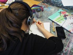 Im Atelier der HAW, Talentschmiede#4 Stipendiaten der LichtwarkSchule, April 2016