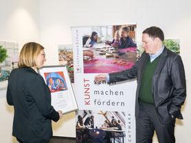 Hamburger Kultursenator Dr. C. Brosda übernimmt Schirrmherrschaft der LichtwarkSchule. Foto: R. Palte, 2020