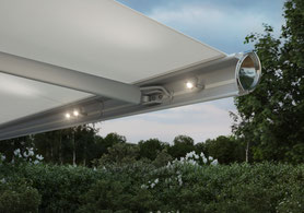 markilux 6000 led spots in der ausfallblende fink markisen sonnenschutz großostheim