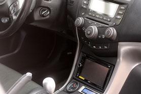 Umbau auf 2-DIn im Honda Accord unter das klimabedienteil