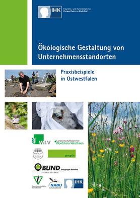 Titelseite der neuen Unternehmensbroschüre der IHK Bielefeld: Ökologische Gestaltung von Unternehemsstandorten