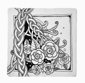 Zentangle Tile by Zenjoy Punzel