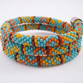 Ethno bracelet, Beadwork Bracelet, Bead Crochet, ukrainian jewelry