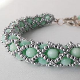 Gold Bracelet, Beadwork Bracelet, Bead Crochet, ukrainian jewelry