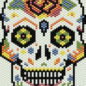 Pattern, Peyote pattern, Jewelry, delica seed beads, Scheme bracelet, loom pattern, Jewelry, Beadwork, handmade, Beaded, Square pattern